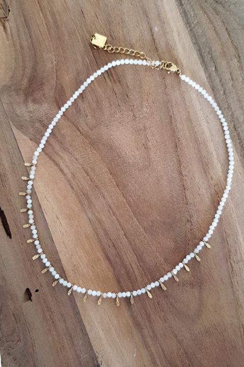 Collier Ras de Cou Summer N.3 - Perles White Gold
