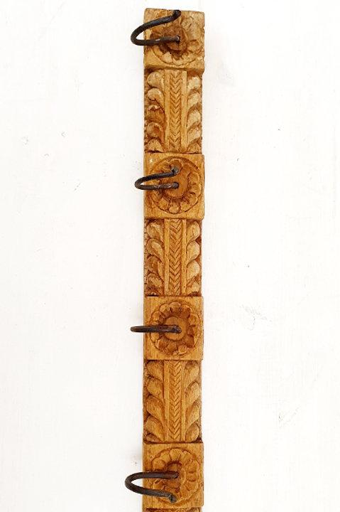 Patère Sculpté Indienne N.22 - Bois Ancien