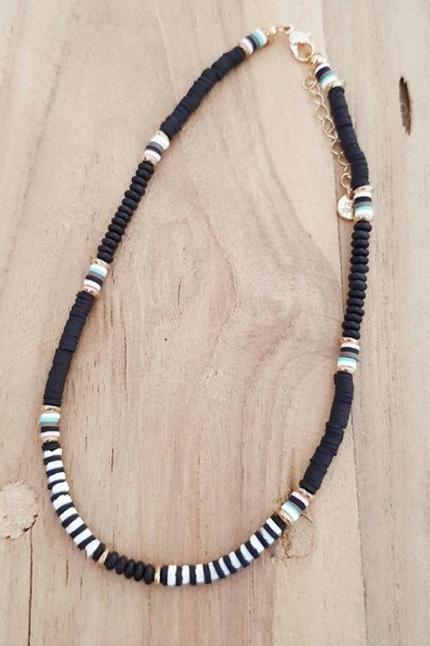 Collier Perles Heishi Noir