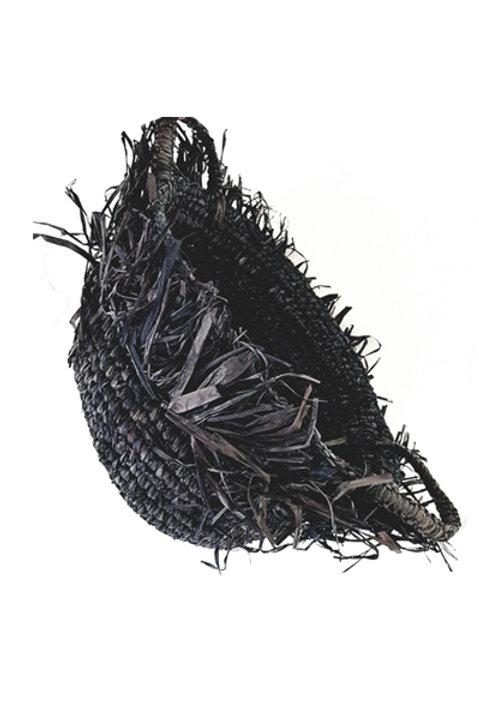Panière Raffia Anthracite - MM
