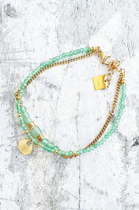 Bracelet Duo - Gold Aventurine - N.6
