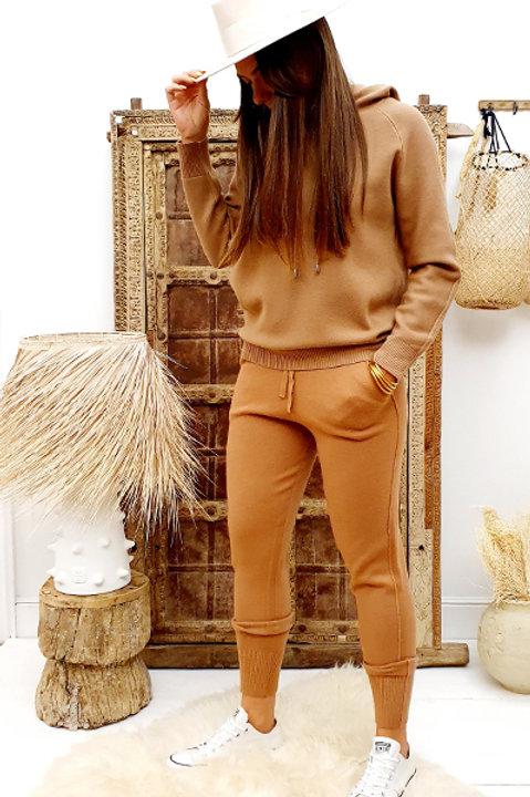 Pull à capuche Cosy Comfy - Camel