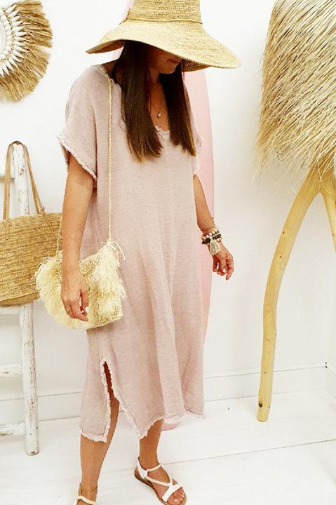 Robe Formentera Lin Coton - Nude