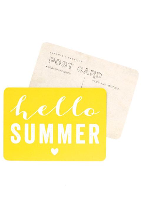 Carte Postale - SUMMER