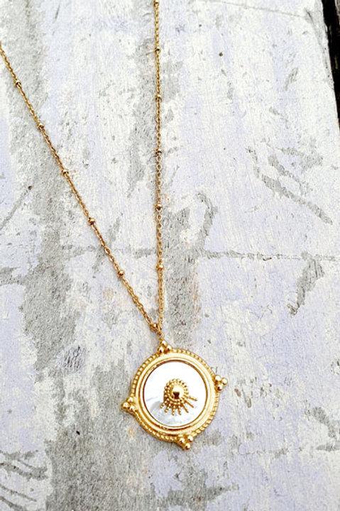 Sautoir Médaille Gold - Nacre