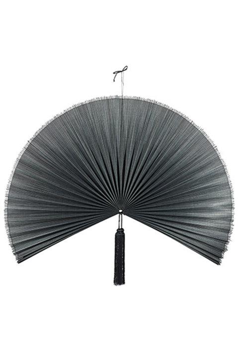 Eventail Bambou Tissé - GM - Noir