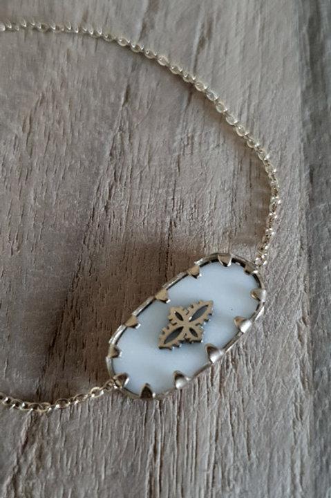 Bracelet Mystic - Gold Céramique Blanc