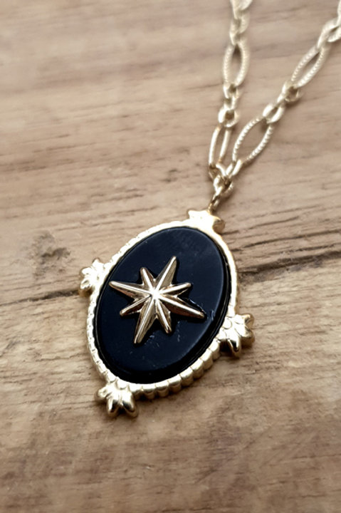 Collier Astrale Gold - Black