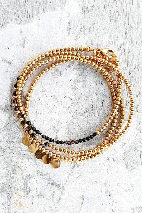 Bracelet Multi Tour - Onyx - N.4