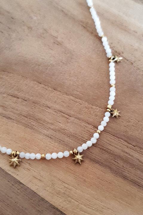 Collier Ras de Cou Summer N.6 - Perles White Gold