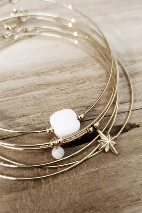Semainier Perles - Blanc