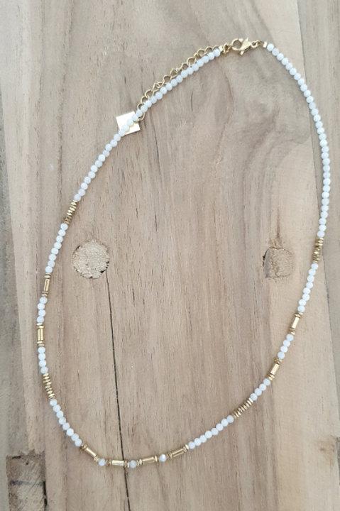 Collier Perles de Pierre - Agathe Blanche