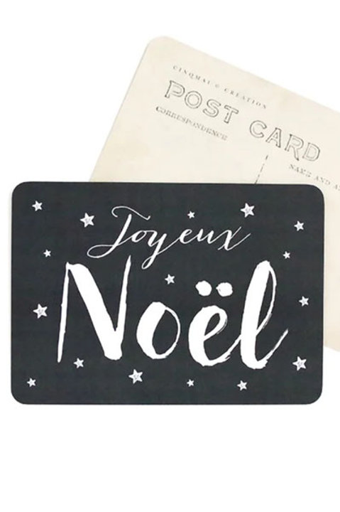 Carte Postale - Joyeux Noel - Ardoise