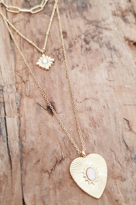 Trio Collier Heart Gold