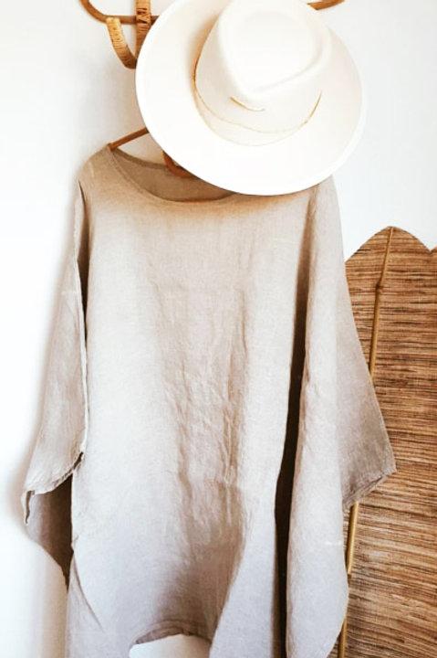 Poncho Blanc Taupe