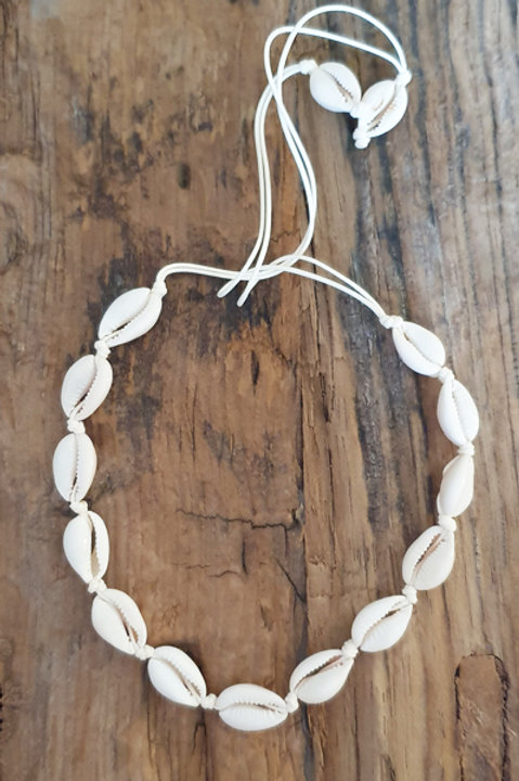 Collier Ras de cou - Coquillage Naturel
