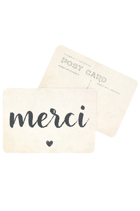 Carte Postale - MERCI