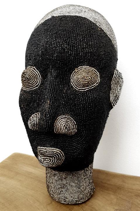 Tête Perlée - Moyen Modèle - Black