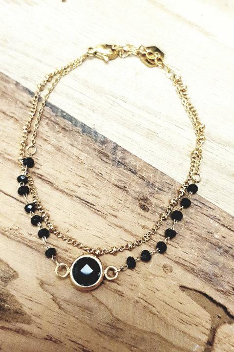 Bracelet Perles - Black