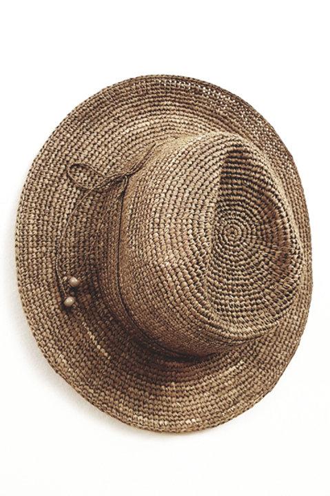 Chapeau Tressé Tea - Madagascar