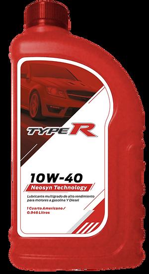 Lubricantes Motor Gasolina Typer 10W40 API CI-4 / SN En Cuarto Caja 24/4