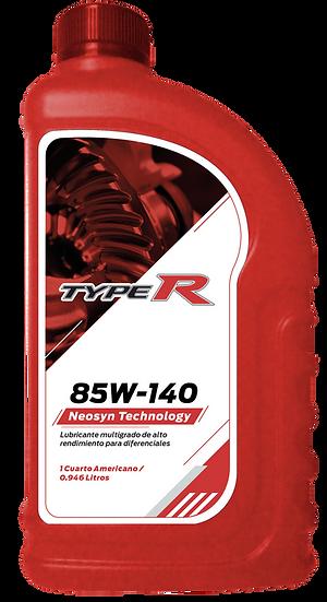 Lubricantes Para Transmisiones Typer 85W140 API GL-5 En Cuarto Caja 24/4