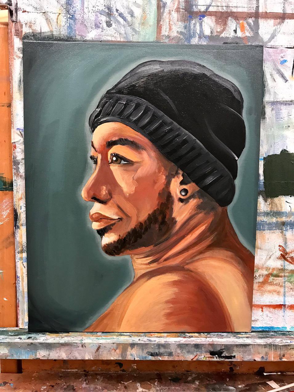 Portret Model Mulatto Prince