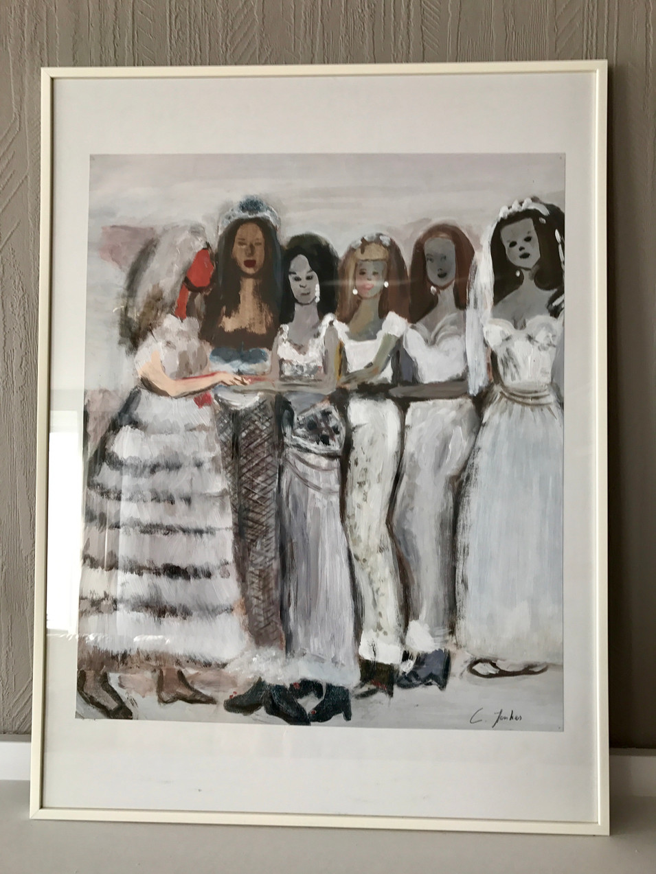 Copy of 'Ryman's Brides' (1997) - by Marlene Dumas