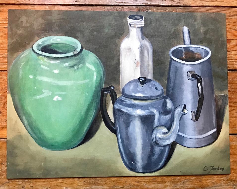 Still Life Turquoise Vase