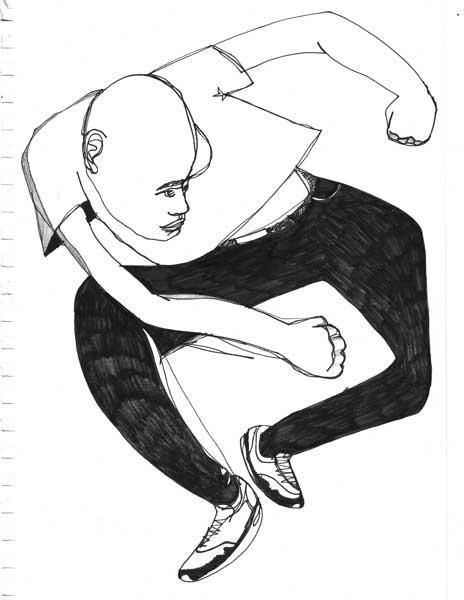 Enthousiaste dansende jongen