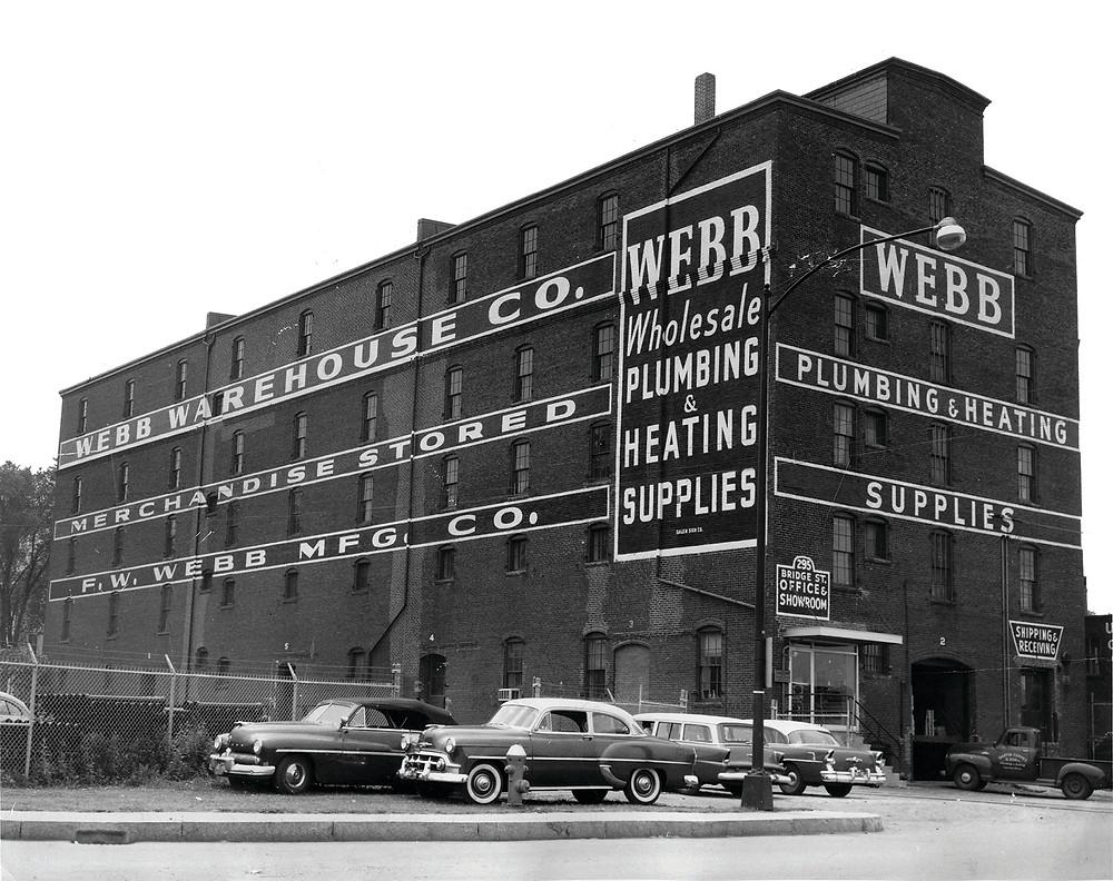F.W. Webb's Bridge Street warehouse ca. 1950