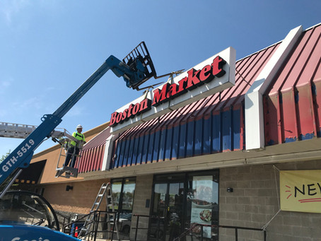 Green Leaf Construction Begins Boston Market Facade Renovations at Twin City Plaza for Geronimo Prop