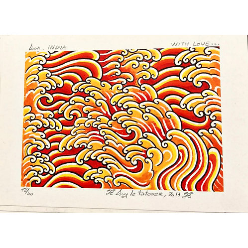 Untitled (Waves) by Guy