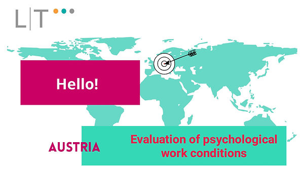 Evaluation of psychological work conditi