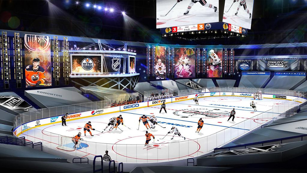 Rogers Place modified for the NHL Playoffs Image