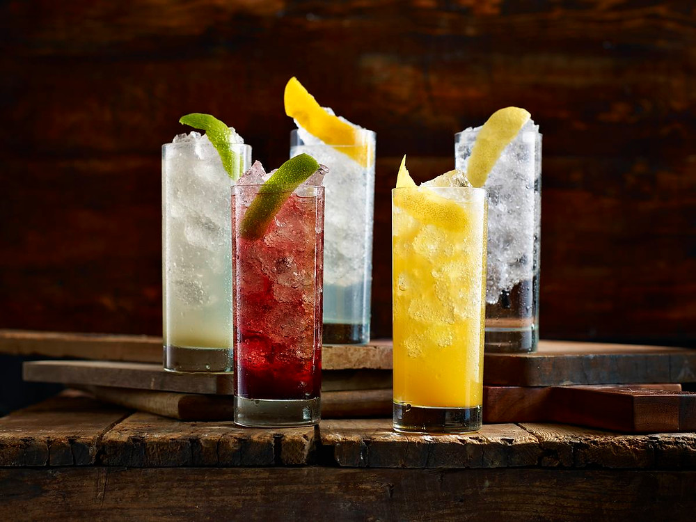 Early happy hour drinks image