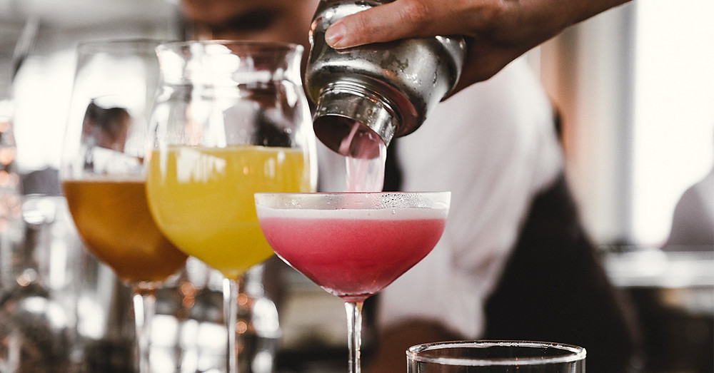 Cocktail mixes being made Image