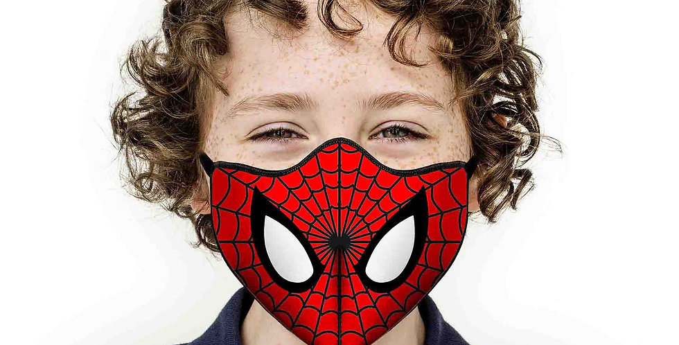 Mascherina Bimbo Occhi Spiderman