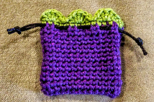 Sparkling Purple and Green Vessel-Pendant pouch