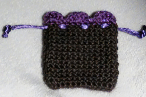 Black with Sparkling Purple top Vessel-Pendant Charging Pouch
