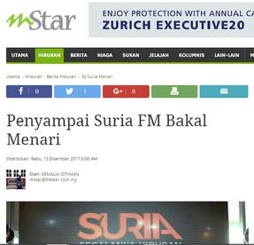 Penyampai Suria FM Bakal Menari - MStar Online - 13/12/2017
