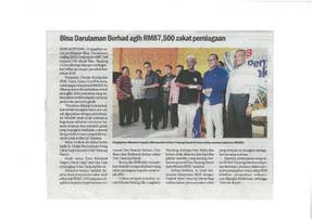 Bina Darulaman Berhad agih RM 87,500 zakat perniagaan - Sinar Harian - 20/12/2017