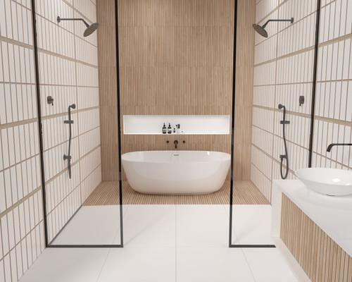 Hikari Art White Tile and Kenridge Ribbon 24x48 Porcelain Tiles.jpg