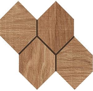 Kenrdige Nut Hexagon Mosaic Porcelain Tile
