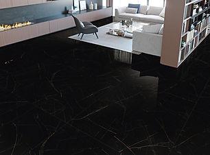 Black and Gold Nero Ardi Polished 24x48 Porcelain Tiles