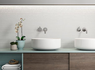 12x36 3D Pure White Tile - candle Trafic