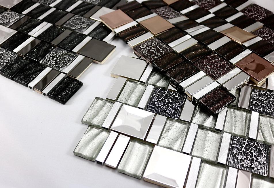 Sparkeling Glass Tiles, Designer Tiles, Mirrella Tiles
