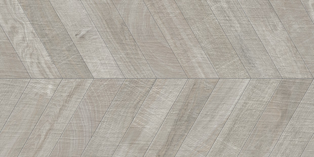 "24""x48"" Kenridge Chevron Grey Wook Look Tile by Mirrella"