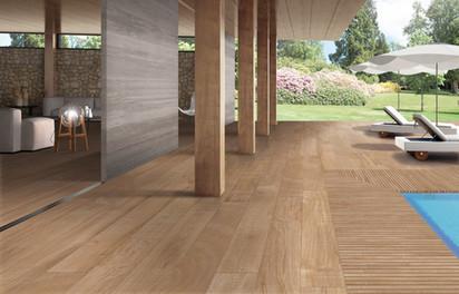 Anti-Slip Exterior Wood Look Porcelain Tile