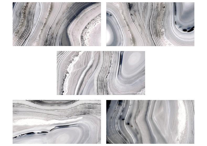 "36""x72"" Onyx Look Polished Porcelain Tile"